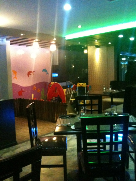 The children's play area at Diner 360 in Gulshan 2.