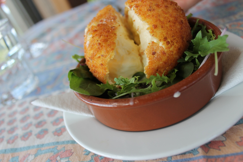 Deep-fried mozzarella.