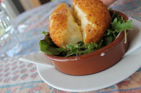 Deep-fried mozzarella.