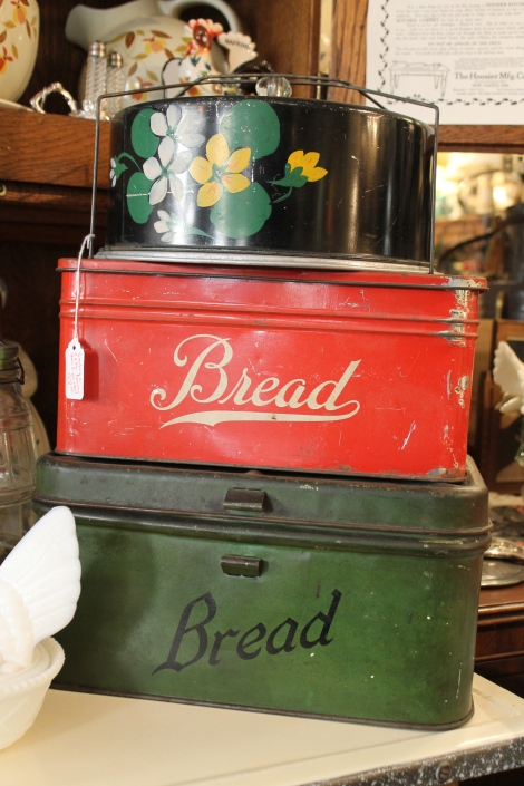 Antique bread tins.