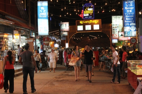 The night market in Siem Reap. Very geared for tourists.