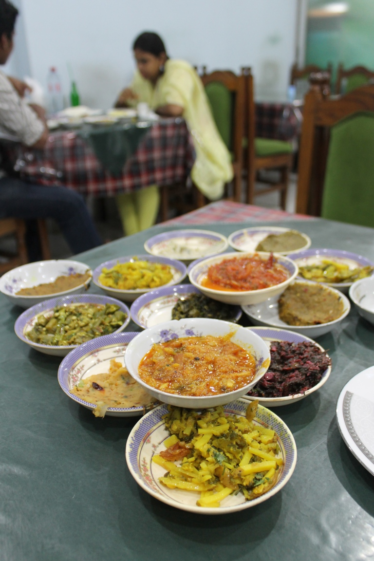 Bhorta dishes.