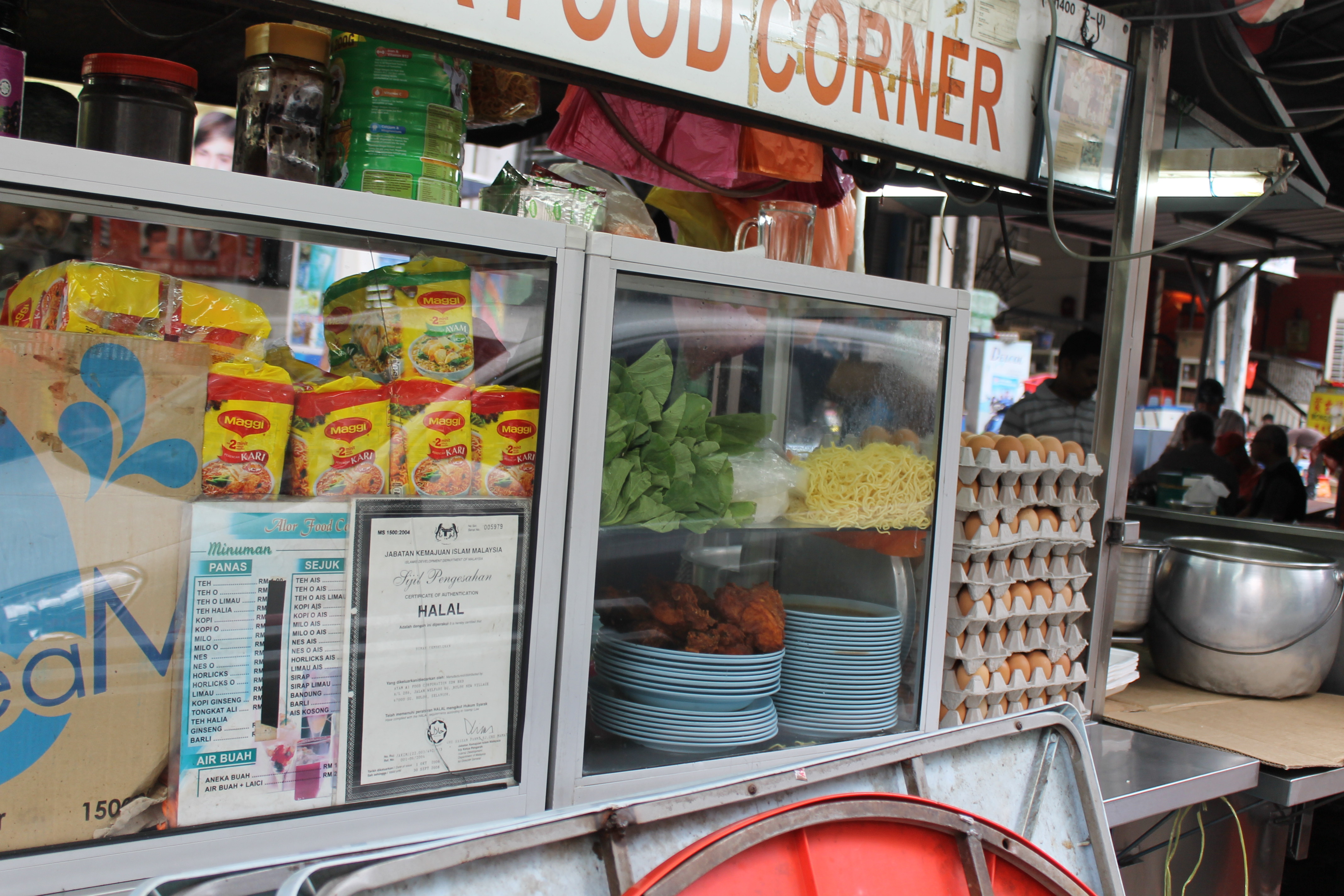 This stir fried noodle stand was in Kuala Lumpur