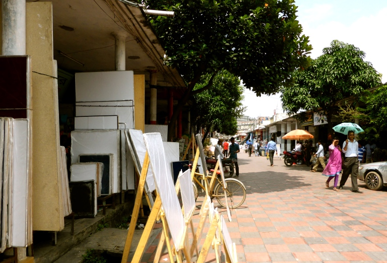 The art shops in New Market.