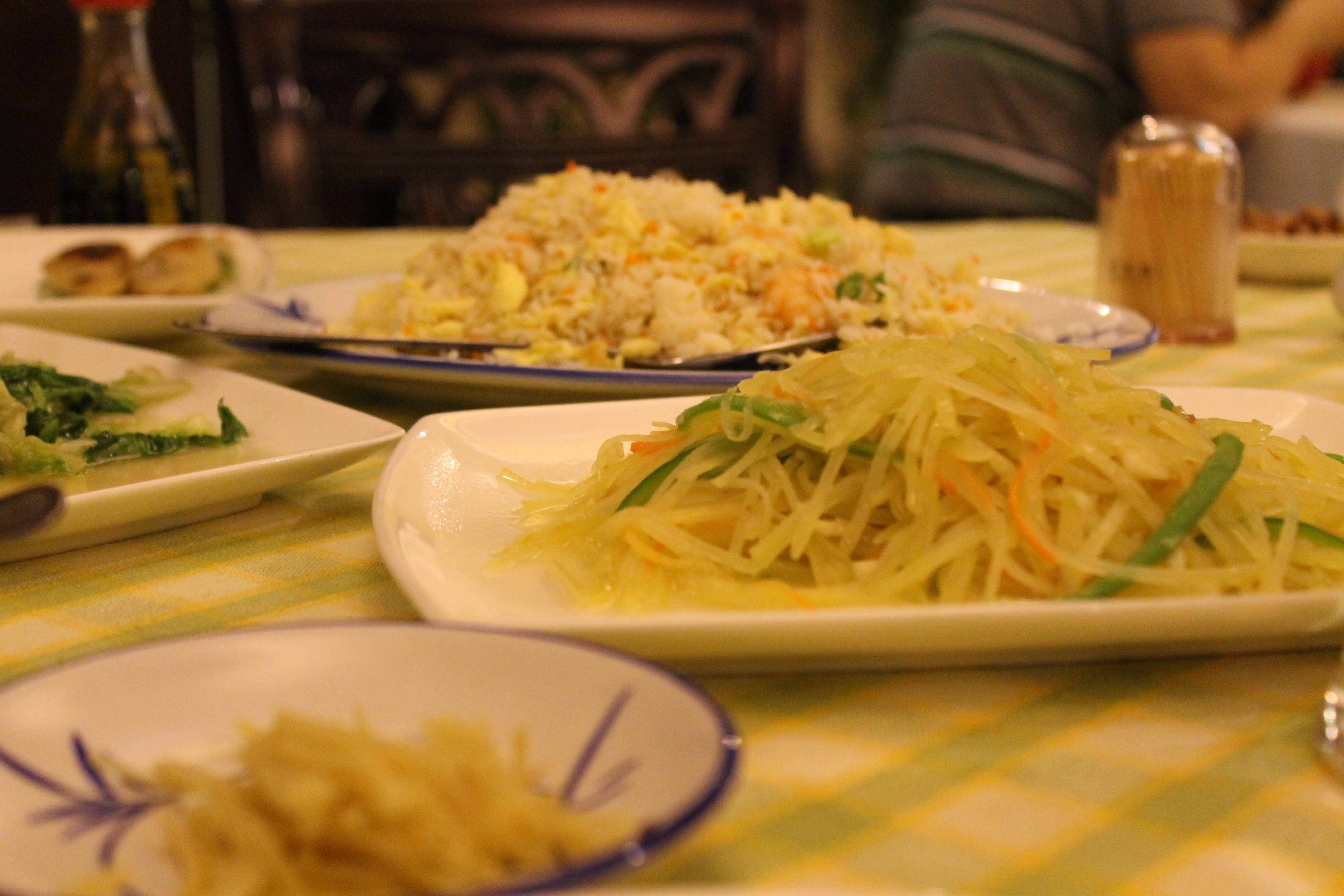 Chinese food on china made in Bangladesh.