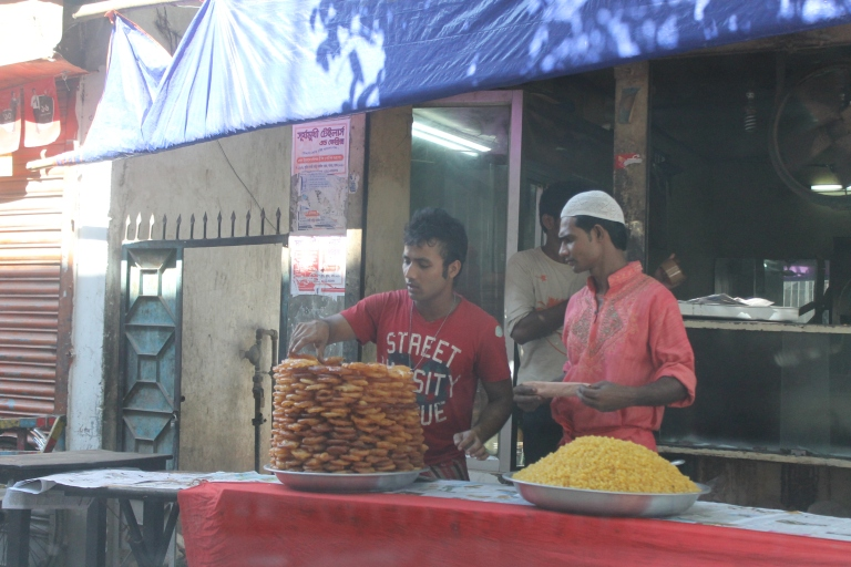 Sweets being sold on the streets.