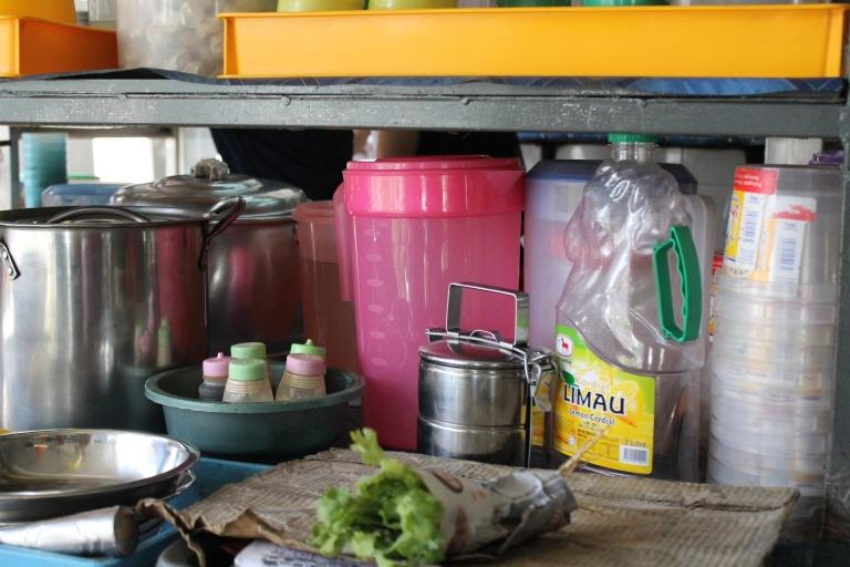Street kitchen in Kuala Lumpur.