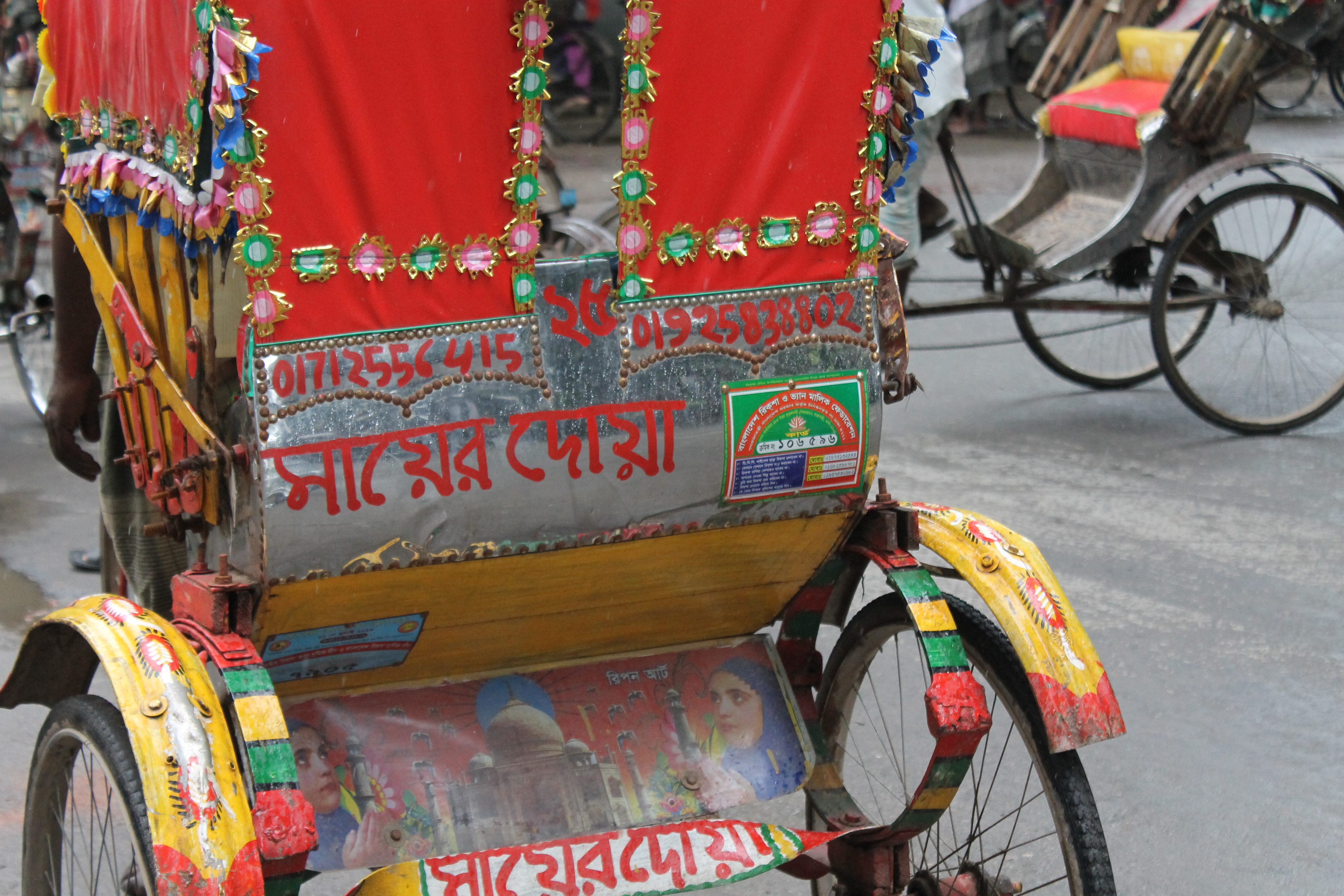 Half a million rickshaws, all trying to give you a ride.