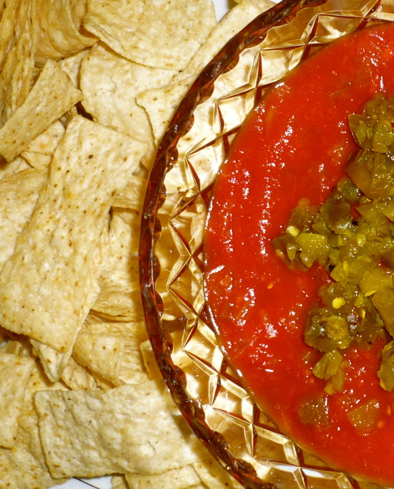 Chips and salsa are so easy to serve in the U.S.