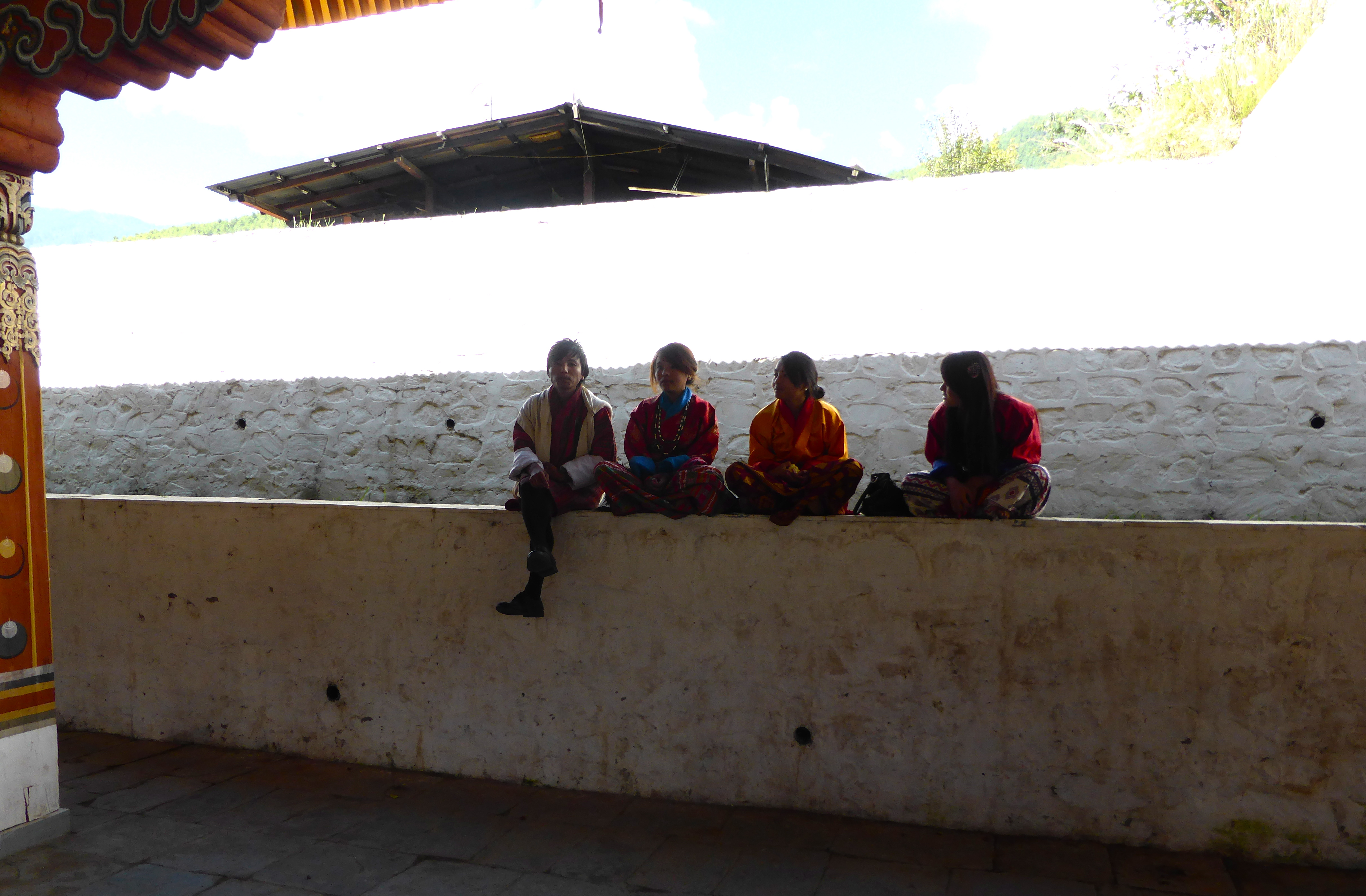 Young people meeting at a festival in Thimphu.