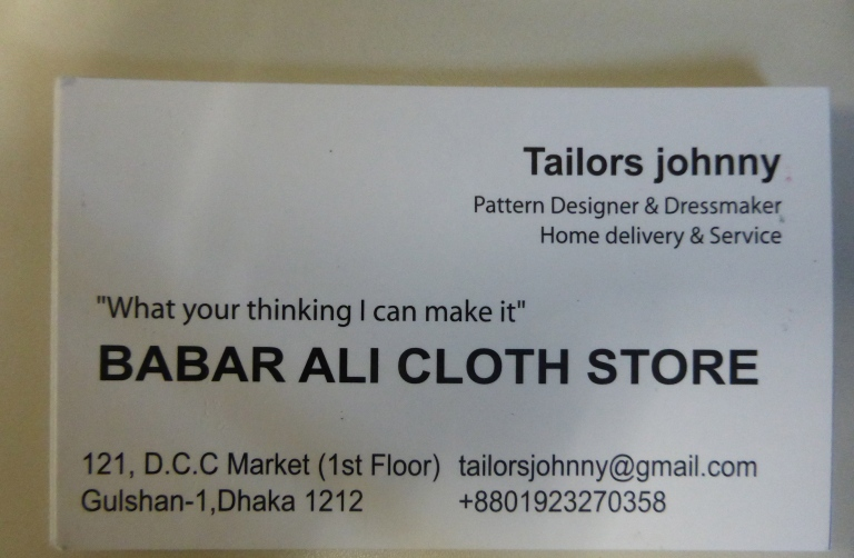 Give Tailors Johnny a call.