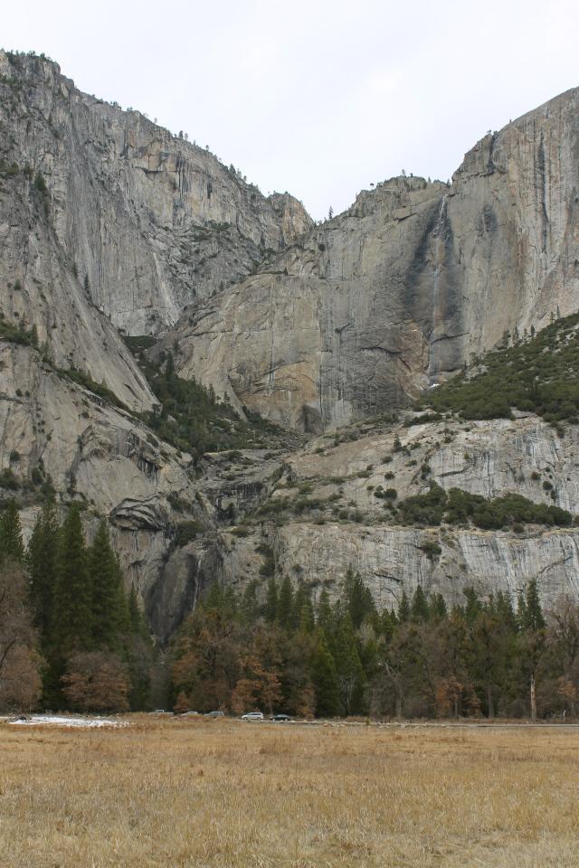 2,500 feet of falling water at Yosemite Falls.