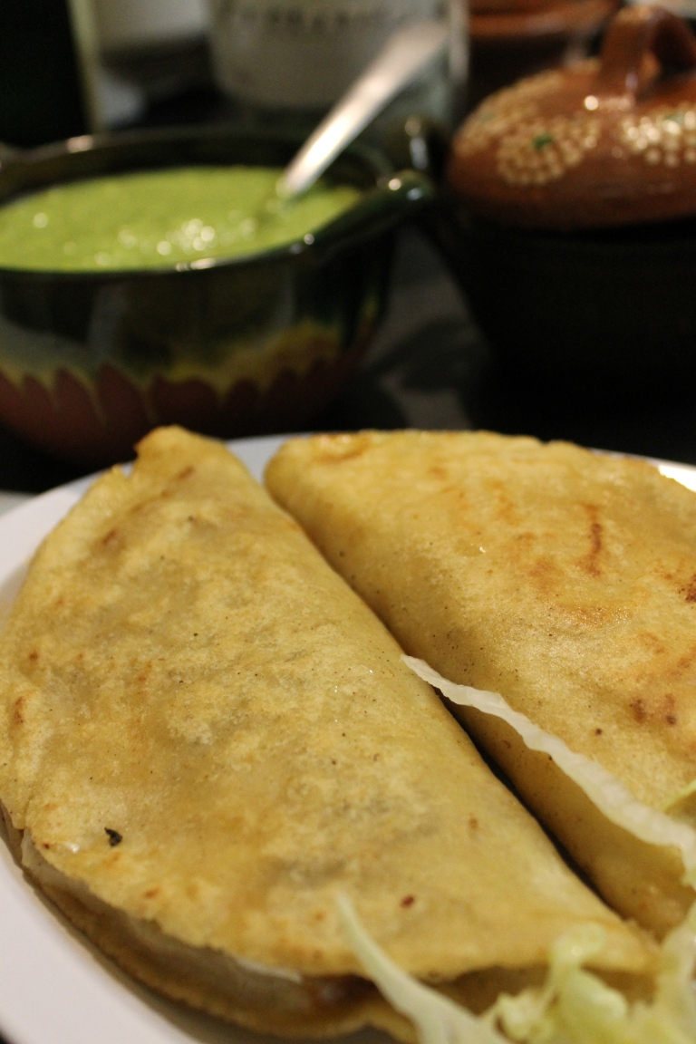 Two servings of quesadillas.
