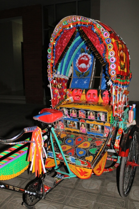 Freshly painted rickshaw.