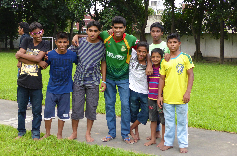 Boys of an SOS Village in Bangladesh.