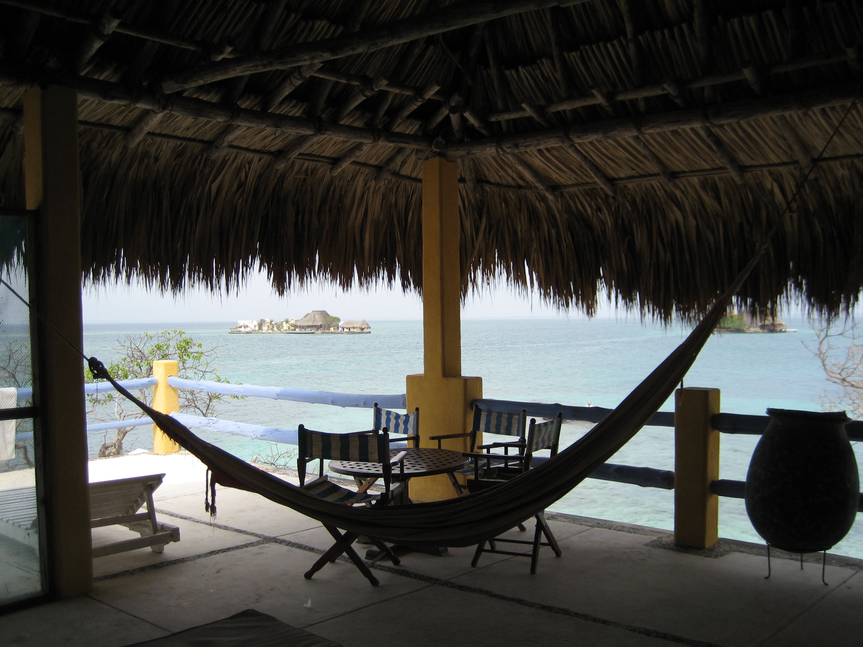 The viewing platform on Isla Pirata, off the coast of Colombia.