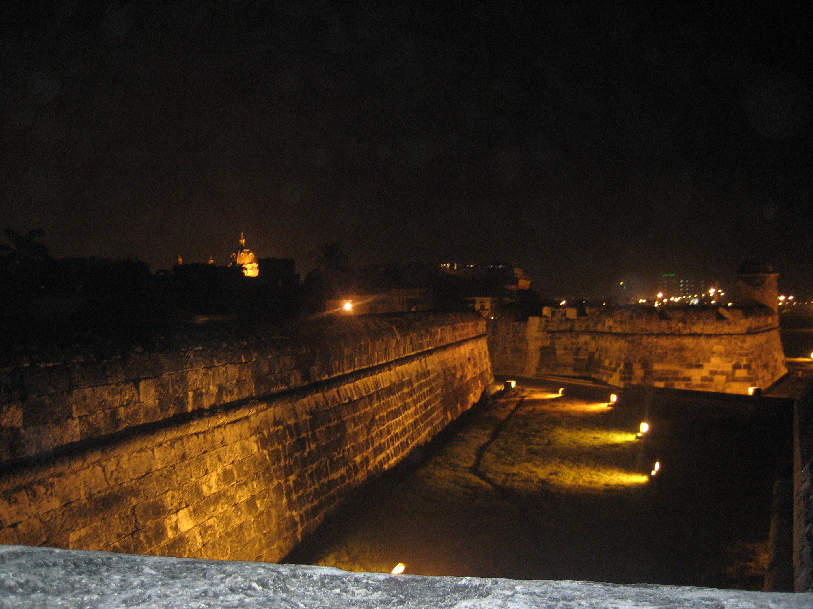 The ramparts of Cartagena.
