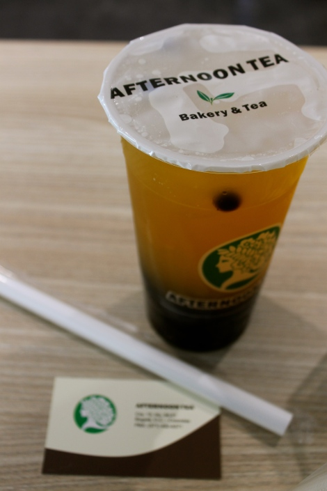 Bubble tea at Afternoon Tea.