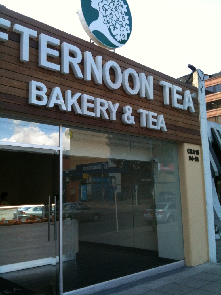 The front of the bakery.