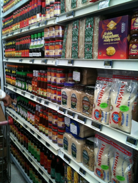 The Asian section at Jumbo.