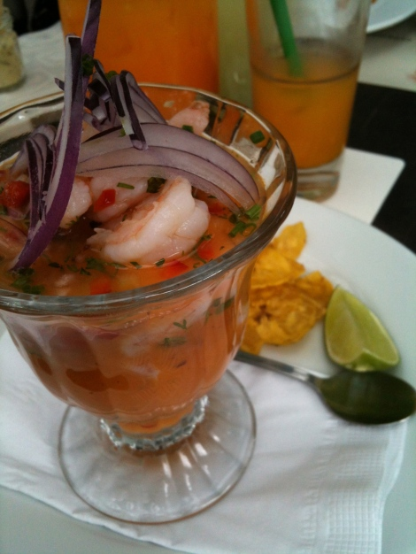 At Mercado, you choose the juice that is mixed in your ceviche.