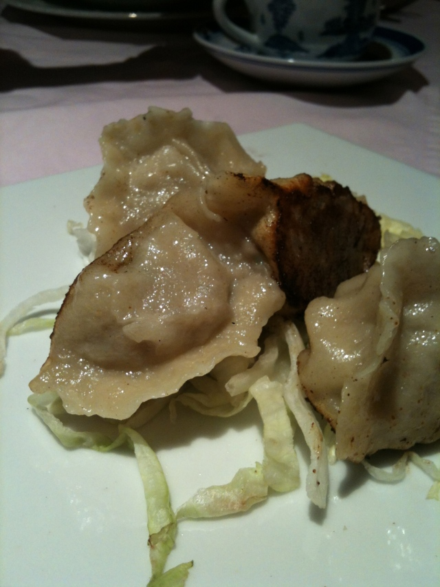Dumplings from Gran China. They tasted authentic.