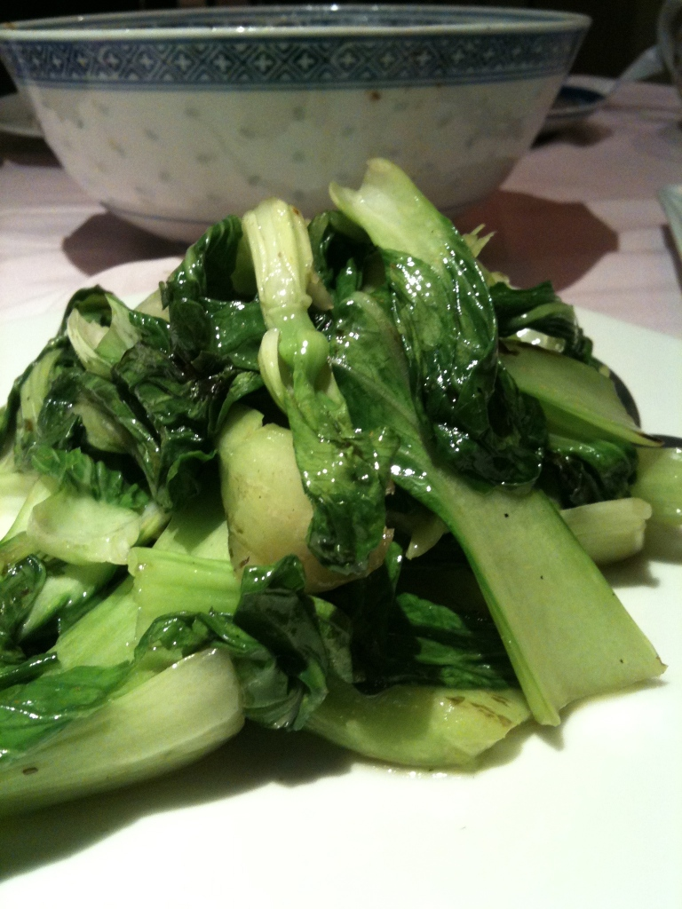 Bok choy at Gran China.