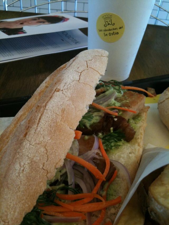 The banh mi sandwich at Sr. Ostia's.