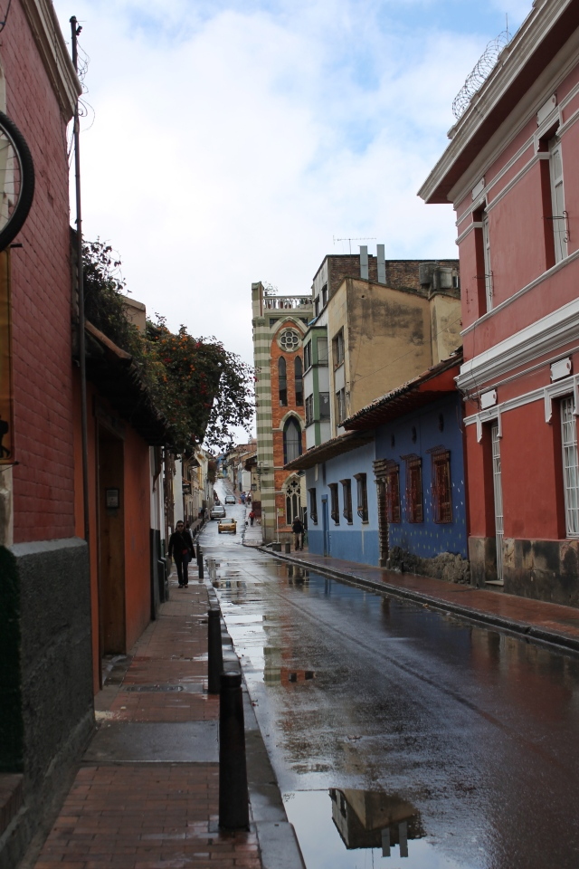 A street in Candelaria, the old part of Bogota.