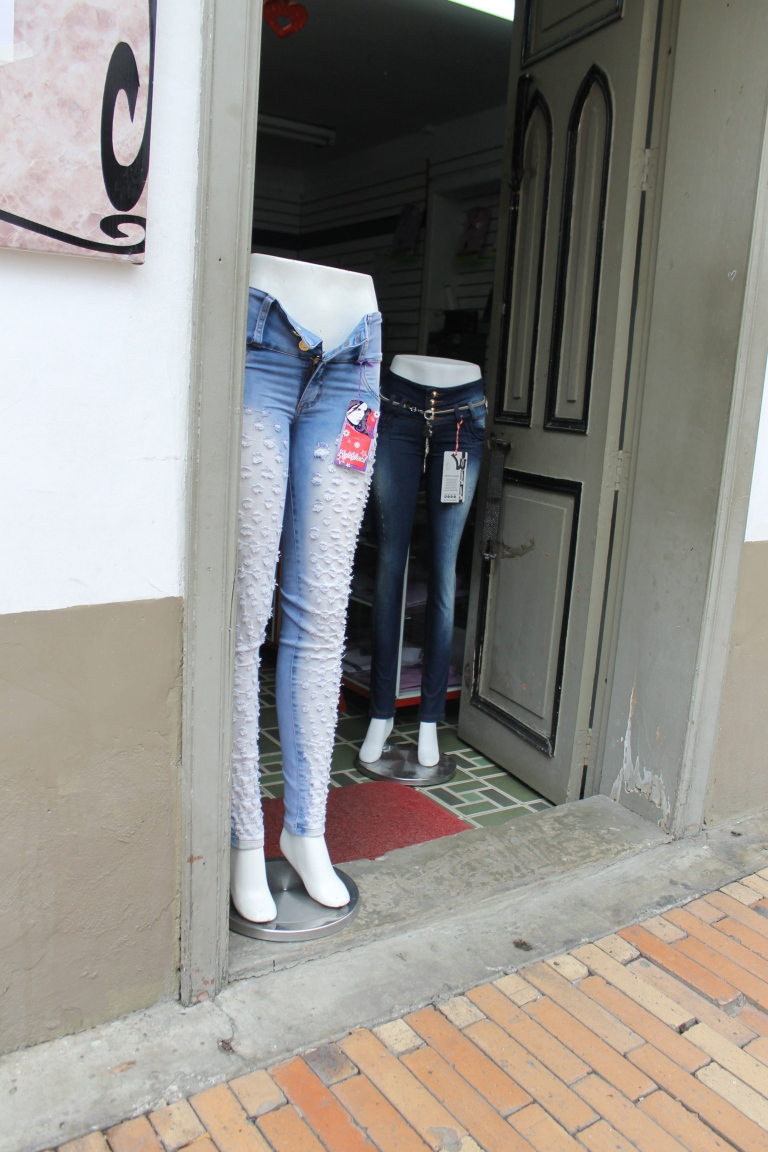 A jeans shop in a small town outside Bogota.