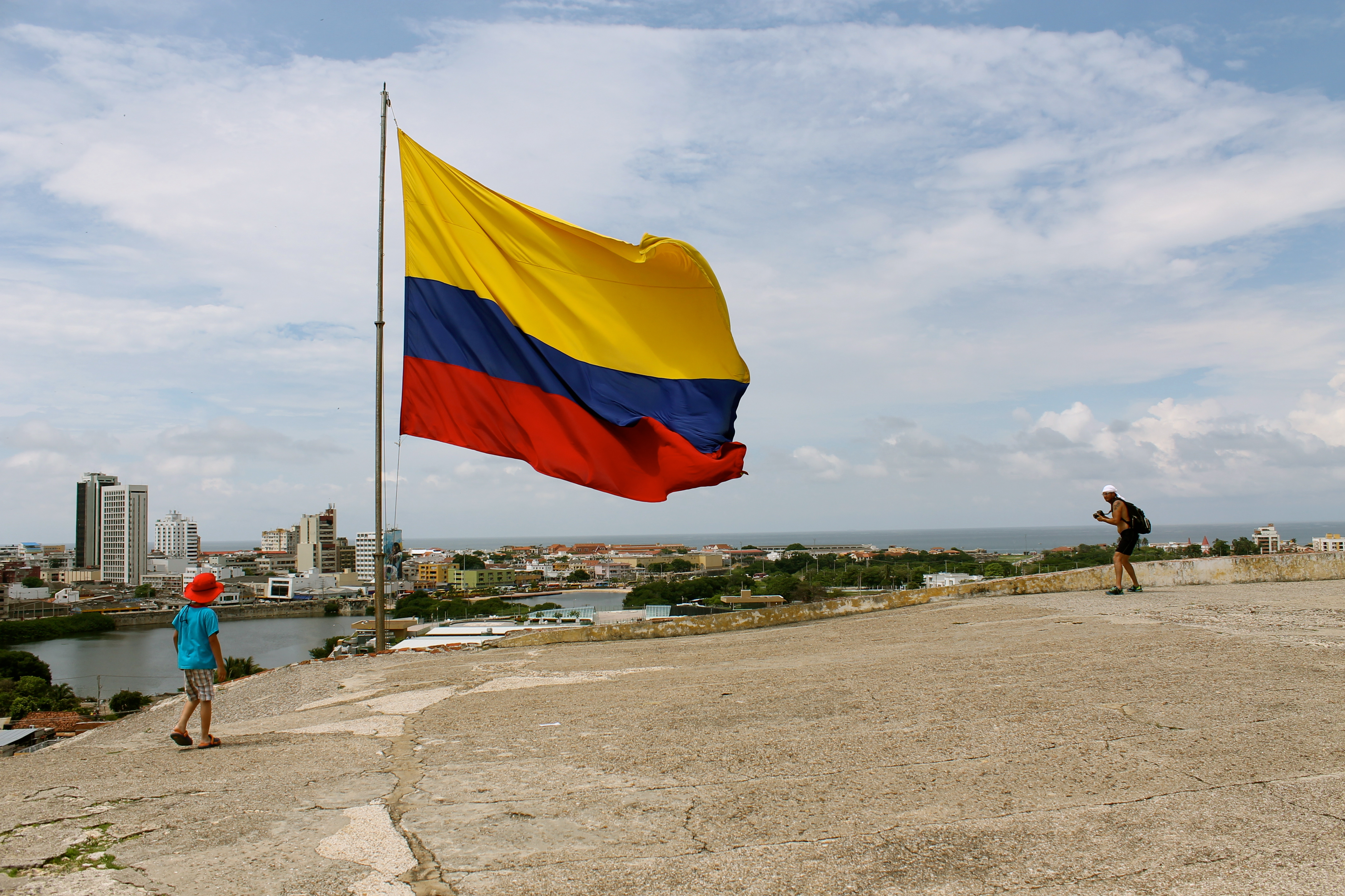 A view of the modern part of Cartagena.