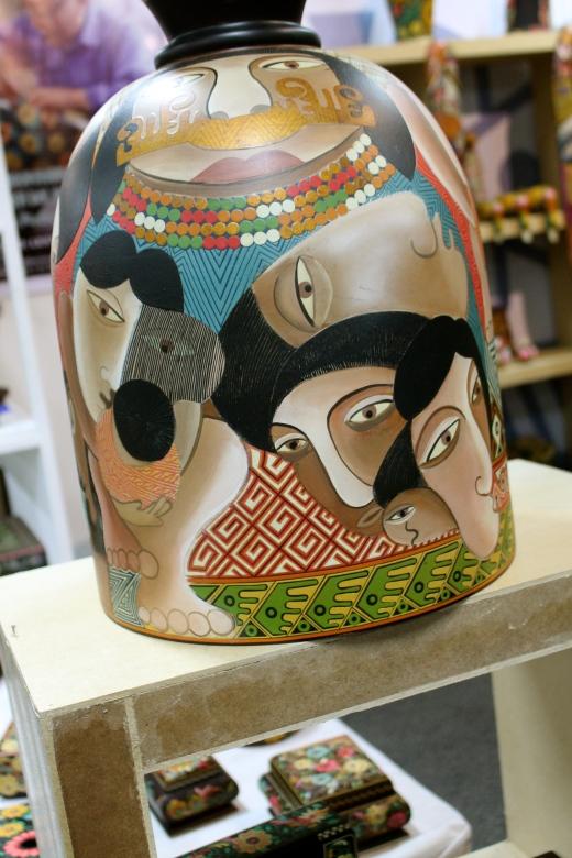 Really fine handicrafts at Corferias market.