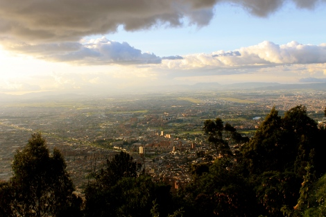 A view of Bogota, city of eight million.