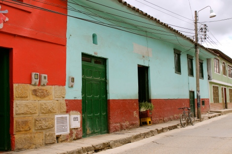 Colorful walls in Guasca.