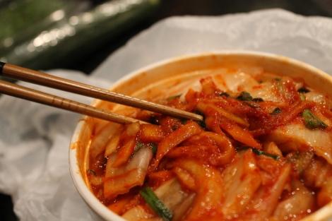 Kimchi from Casa de Coreana. I think I like theirs the best.
