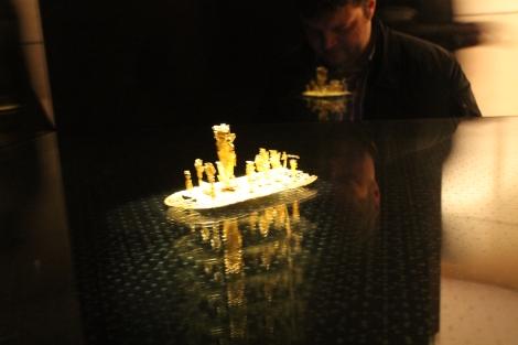 The el dorado raft in the gold museum.