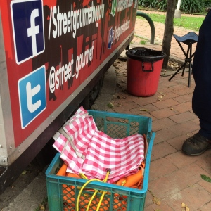 Street Gourmet have picnic blankets for use in the park.