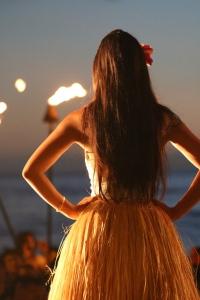 As imagined, a hula girl.